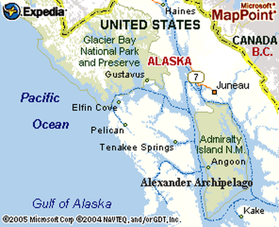 Glacier Bay, Alaska Map - Glacier Bay Sportfishing